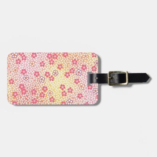 Japanese KIMONO Textile, Cherry Blossoms Pattern Luggage Tag