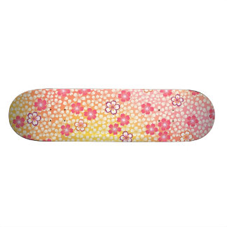 Japanese KIMONO Textile, Cherry Blossoms Pattern Skateboard Deck