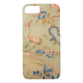 Japanese KIMONO Textile, Crane & Flower iPhone 8/7 Case