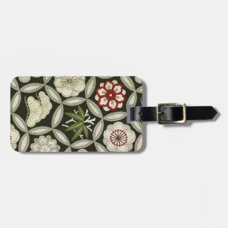 Japanese KIMONO Textile, Floral Pattern Bag Tag