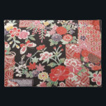 "Japanese KIMONO Textile, Floral Pattern Cloth Placemat<br><div class=""desc"">This is a textile design of a Japanese Kimono.</div>"
