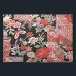 "Japanese KIMONO Textile, Floral Pattern Cloth Placemat<br><div class=""desc"">This is a textile design of a Japanese Kimono.</div>"
