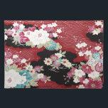 "Japanese KIMONO Textile, Floral Pattern Placemat<br><div class=""desc"">This is a textile design of a Japanese Kimono.</div>"