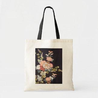Japanese KIMONO Textile, Floret Pattern Tote Bag