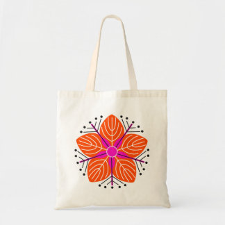 Japanese knotweed (orange) tote bag