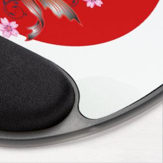 Japanese koi carp gel mouse pad
