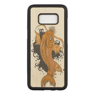 Japanese Koi Fish Carved Samsung Galaxy S8 Case