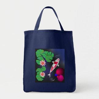 Japanese Koi Fish, Lotus Flowers & Water-lilies Tote Bag
