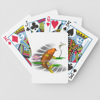 Japanese Koi Fish Pond Design Bicycle Playing Cards