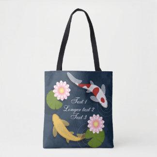 Koi fish tote bags zazzle for Koi fish purse