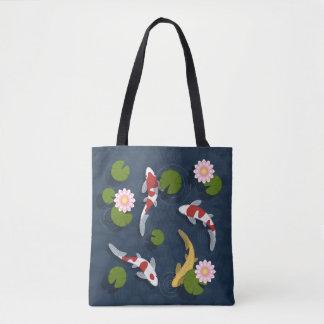 Japanese Koi Fish Pond Tote Bag