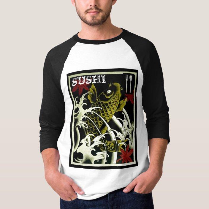 Juniors Size Small T-shirt Black Koi Fish Graphic Japanese Design Freedom Tattoo