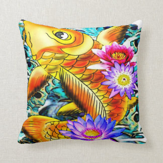 japanese koi fish,tattoo inspired pillow