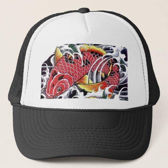 e7d09a0fd911f Japanese Koi Fish Tattoo Trucker Hat