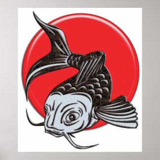 Japanese Koi Logo Poster