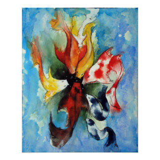 Koi fish paintings posters zazzle for Koi fish paintings prints