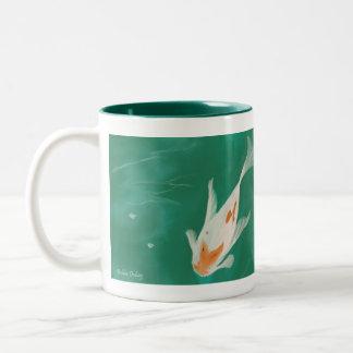 Japanese Koi Two-Tone Coffee Mug