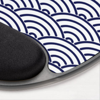 Japanese Koinobori Fish Scale in Delft Blue Gel Mouse Pad