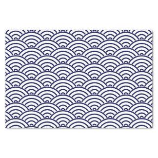 Japanese Koinobori Fish Scale in Delft Blue Tissue Paper