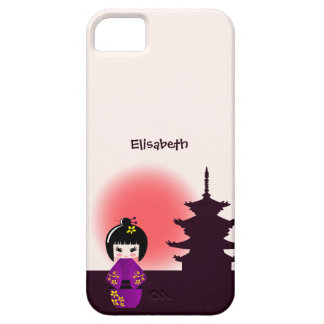 Japanese kokeshi doll at temple during sunset iPhone SE/5/5s case