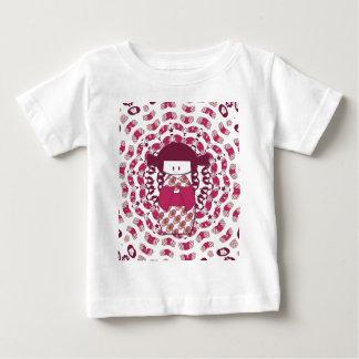 Japanese Kokeshi doll, burgundy T-shirt