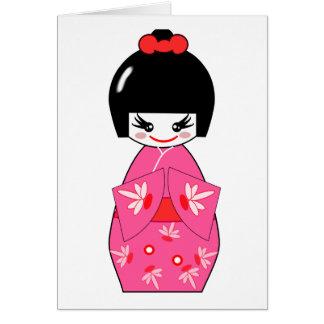 Japanese Kokeshi Doll Card
