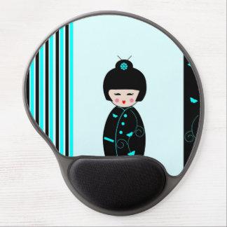 """Japanese Kokeshi Doll"" Gel Mousepad"