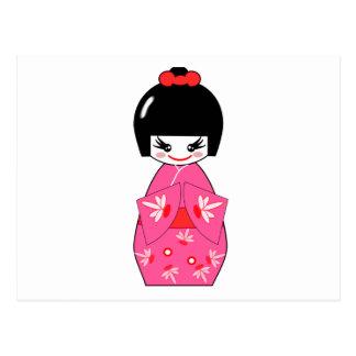 Japanese Kokeshi Doll Postcard