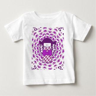 Japanese Kokeshi doll, purple Baby T-Shirt