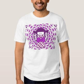 Japanese Kokeshi doll, purple T Shirt