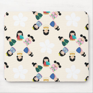 Japanese Kokeshi Dolls Mousepad