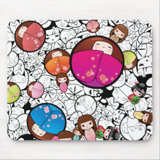 Japanese Kokeshi Dolls - Mousepad