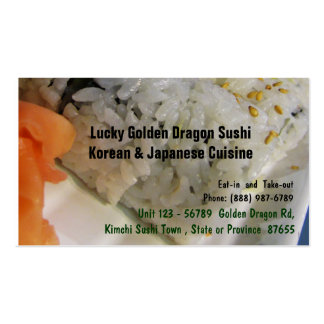 Japanese Korean Food Sushi Restaurant Business Card Template