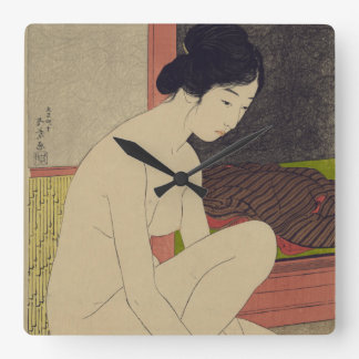 Japanese Lady After Bath Accent Clock