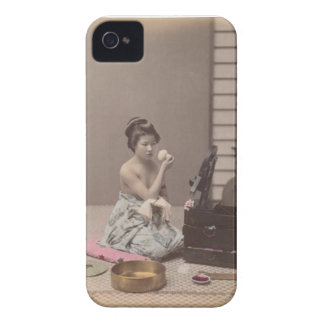 Japanese Lady Geisha Asian Vintage Art iPhone 4 Case-Mate Case