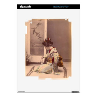 Japanese Lady Geisha Asian Vintage Art Skins For The iPad 2