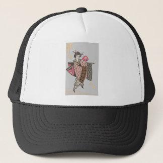 Japanese Lady in Pink Kimono Trucker Hat