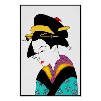 JAPANESE LADY_POSTER POSTERS