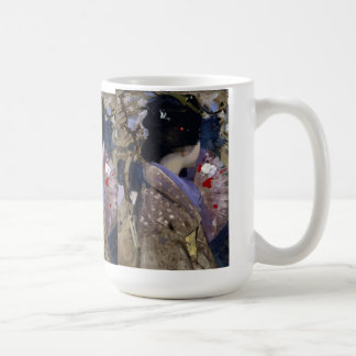 Japanese Lady with Fan by Henry, Vintage Art Coffee Mug