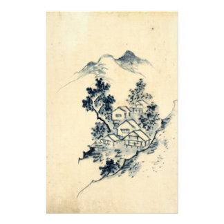 japanese landscape stationery design