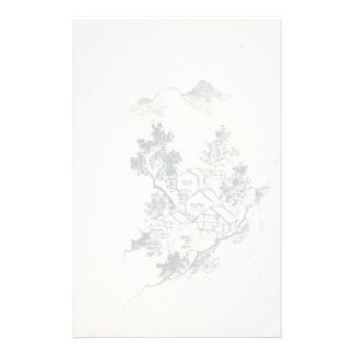 japanese landscape personalized stationery