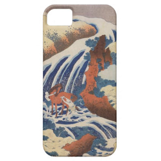 Japanese Landscape With Horse Washing In Waterfall iPhone SE/5/5s Case