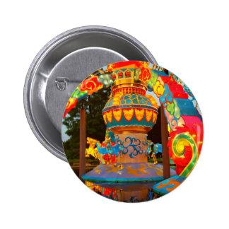 Japanese Lantern Art 2 Inch Round Button