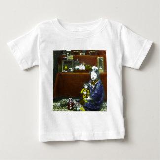 Japanese Little Girl Vintage Magic Lantern Slide Tee Shirt