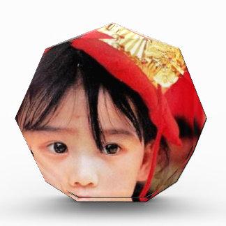 Japanese Little Girl Wearing a Kimono Acrylic Award