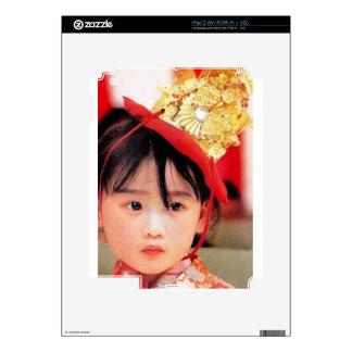 Japanese Little Girl Wearing a Kimono iPad 2 Decal