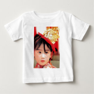 Japanese Little Girl Wearing a Kimono T Shirt