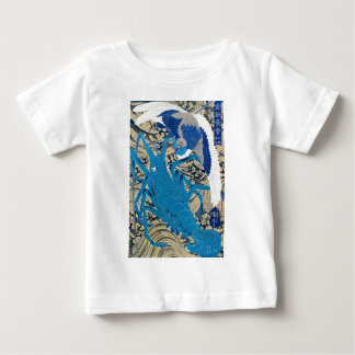 Japanese Lobster and Bird Painting c. 1800's Baby T-Shirt