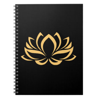 Japanese Lotus Flower Blossom Notebook