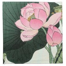 Vintage Lotus Flower Napkins Zazzle